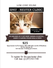 Low cost spay-neuter in Maine and Help Fix ME